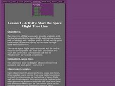Start the Space Flight Time Line Lesson Plan