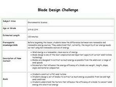 Blade Design Challenge Lesson Plan