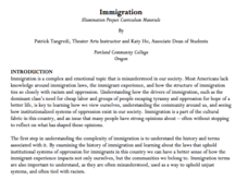 Immigration Illumination Project Curriculum Materials Lesson Plan