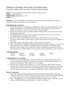 Her stories: African American folktales, fairy tales, and true tales Lesson Plan
