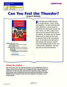 Can You Feel the Thunder? Lesson Plan