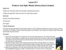 Products from Right Whales Lesson Plan