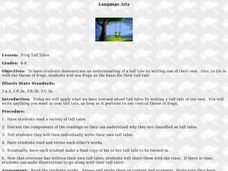 Frog Tall Tales Lesson Plan