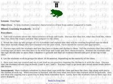 Frog Raps Lesson Plan