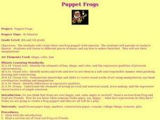 Puppet Frogs Lesson Plan