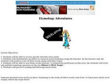 Etymology Adventures Lesson Plan