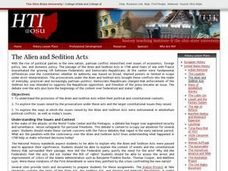 The Alien and Sedition Acts Lesson Plan