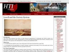 Lowell and the Factory System Lesson Plan