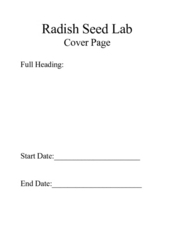 Radish Seed Lab Worksheet