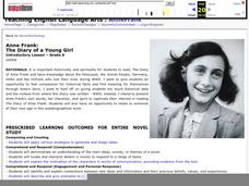 Characteristics of Anne Frank Lesson Plan