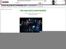 The Sun Sets Everywhere Lesson Plan