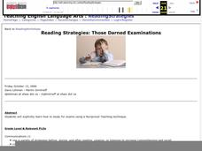 Reading Strategies: Those Darned Examinations Lesson Plan