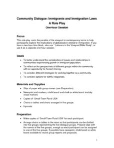 Immigration and Immigration Laws Lesson Plan