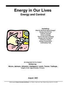 Energy In Our Lives Lesson Plan