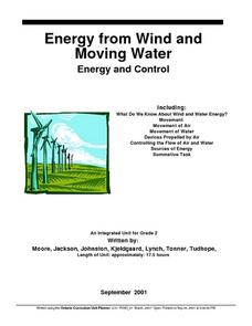 Energy From Wind And Moving Water Lesson Plan