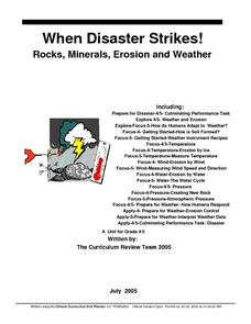 When Disaster Strikes! Rocks, Minerals, Erosion and Weather Lesson Plan