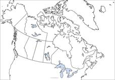 Canada Outline Map Graphic Organizer