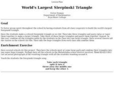 World's Largest Sierpinski Triangle Lesson Plan