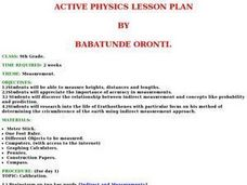 Active Physics Lesson Plan Lesson Plan