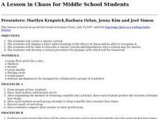 A Lesson in Chaos for Middle School Students Lesson Plan
