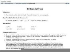 Sir Francis Drake Worksheet