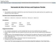 Hernando de Soto Explores Florida Worksheet
