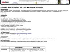 Canada's Natural Regions and Their Varied Characteristics Lesson Plan
