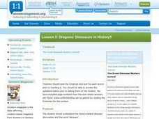 Dragons: Dinosaurs in History? Lesson Plan