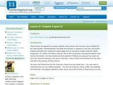 Lesson 8: Chapter 6 (part 2) Life in the Great Ice Age Lesson Plan