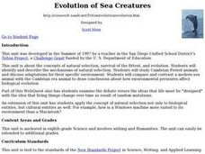 Evolution of Sea Creatures Lesson Plan