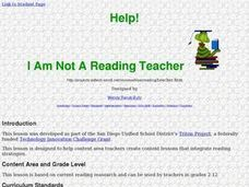 I am not a Reading Teacher Lesson Plan
