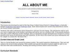 Social Studies: All about Me Lesson Plan