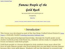Famous People of the Gold Rush Lesson Plan