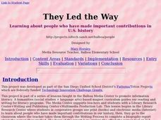 Social Studies: People and Their Contributions Lesson Plan