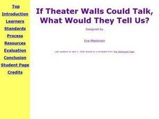 If Theater Walls Could Talk, What Would They Tell Us? Lesson Plan