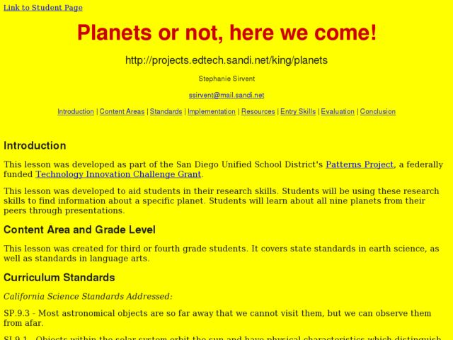 Planets or Not, Here We Come! Lesson Plan