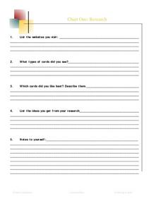Chart One: Research Lesson Plan