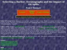 Selecting a Harbor: Oceanography and the Impact of Oil Spills Lesson Plan