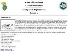 The Spanish Explorations Lesson Plan