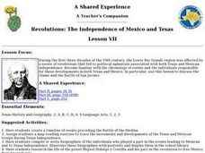 Revolutions: The Independence of Mexico and Texas Lesson Plan