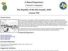 The Republic of the Rio Grande, 1840 Lesson Plan