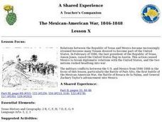 The Mexican-American War, 1846-1848 Lesson Plan