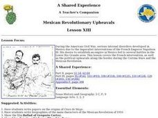 Mexican Revolutionary Upheavals Lesson Plan