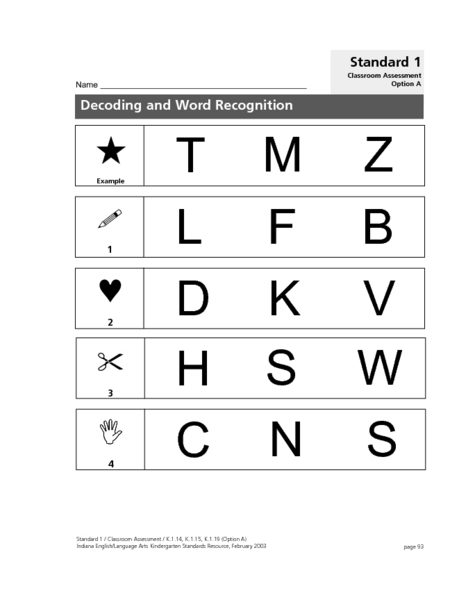 Decoding and Word Recognition Lesson Plan