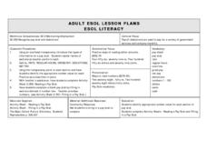 ADULT ESOL LESSON PLANS--Maintaining Employment Lesson Plan
