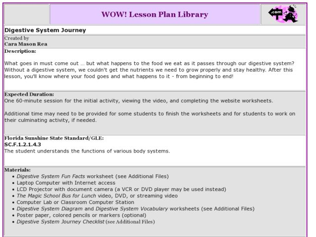Magic School Bus for Lunch Lesson Plans & Worksheets