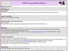 Planets in a Row Lesson Plan