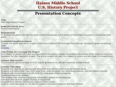 Web Page History Project Lesson Plan