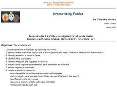 Dramatizing Fables Lesson Plan