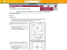 Tessellations:  Use Right Angles To Explain The Tessellation of Objects Lesson Plan
